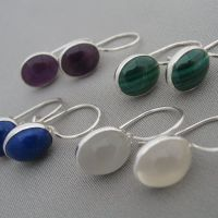 oval cabochon earrings