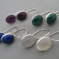 oval cabochon earrings