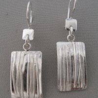 square link earrings
