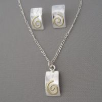 earrings and pendant w/spiral