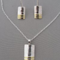 earrings w/europ. wire and pendant