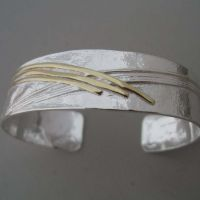 cuff bracelet silver and gold
